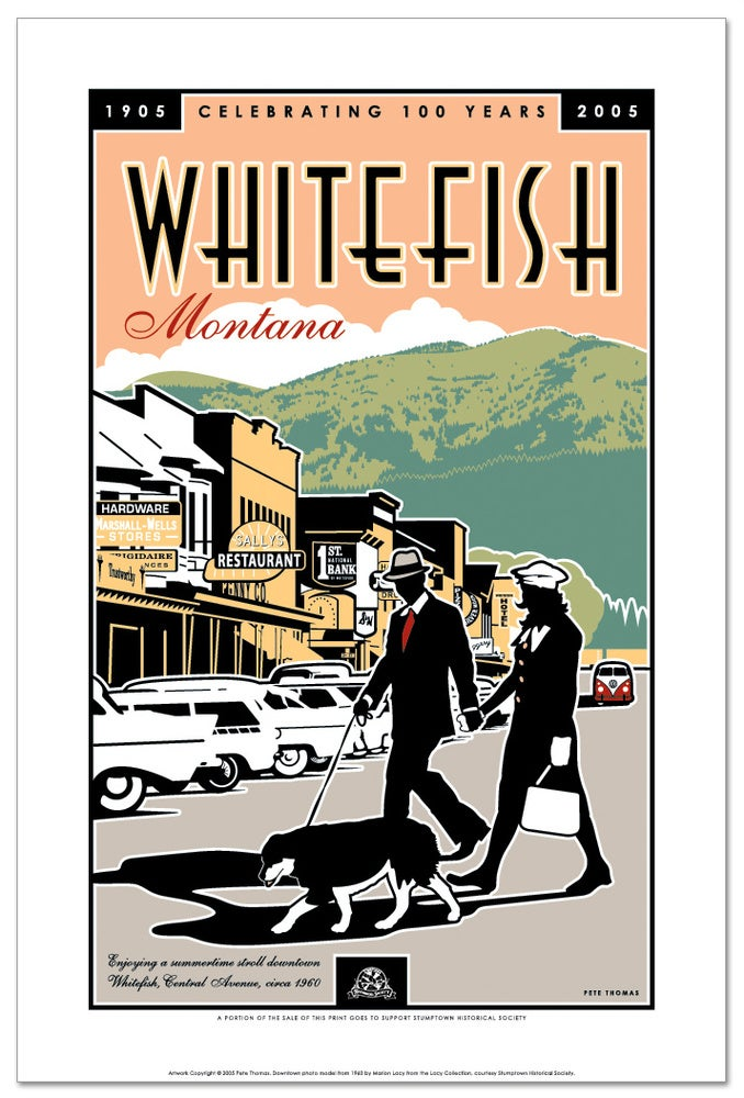 Image of Whitefish Centennial - Limited Edition Downtown Art Print