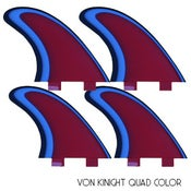 Image of Von Knight Quad Color Fins (set of 4)