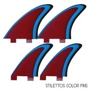 Image of Von Sol Stilettos Quad Color Fins (set of 4)
