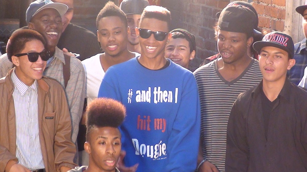 Image of Royal Blue #ANDTHENIHITMYDOUGIE CREWNECK