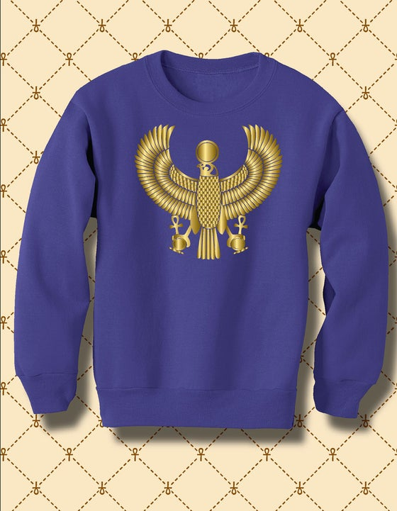 Image of Women's Custom Heru Gold Foil Fleece