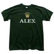 Image of ALEX T Shirt (Green + White)