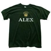 Image of ALEX T Shirt (Green + White)