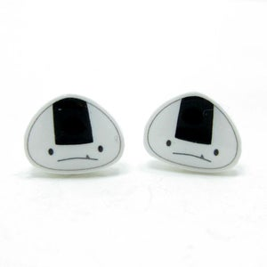 Image of Onigiri Earrings - Sterling Silver Posts