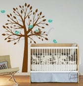 Image of NEW DESIGN Birds Nesting Tree Hatching Egg (LARGE) - dd1037 - Kids Nursery Vinyl Wall Sticker Decal