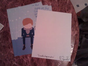 "Image of ""friendship keeps me warm"" mini poster print"