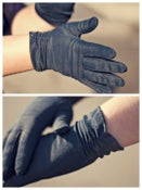 Image of Navy Dress Gloves|Vintage