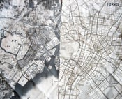 Image of tokyo or edo map on cloth