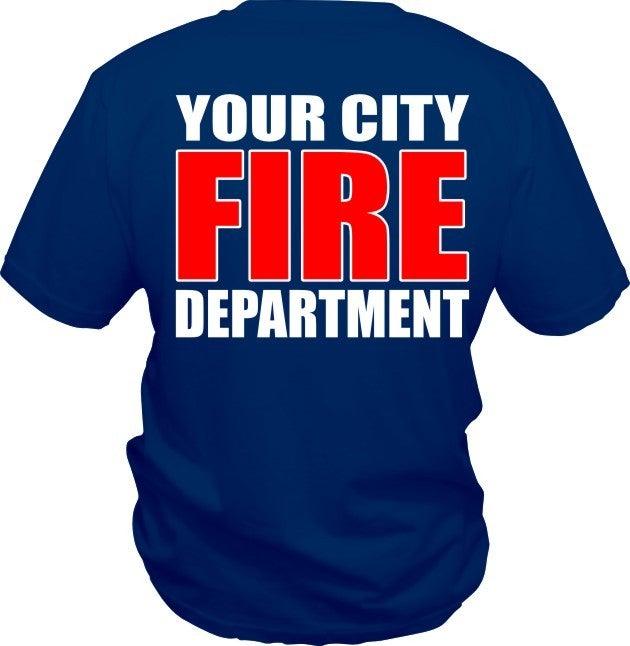 Custom fire department t shirt five star designz for Custom fire t shirts
