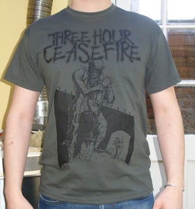 Image of Zombie Gravedigger (Men's tee, grey) SOLD OUT