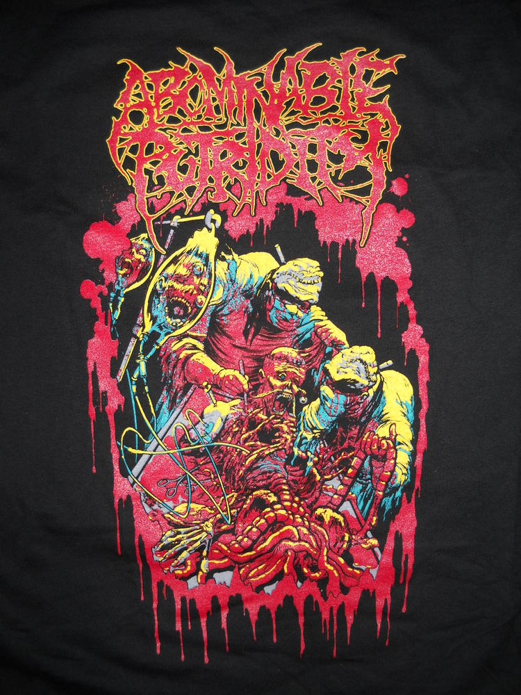 Image of ABOMINABLE PUTRIDITY T SHIRT 1 (IN STOCK)