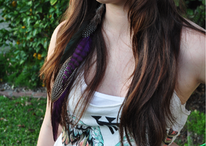 Image of Purple Hair Earring