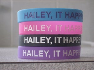 """Image of """"Hailey, It Happens"""" Wristbands"""