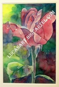 Image of Big Rose Original Watercolor