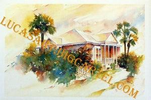Image of Summer Hideaway Watercolor Print