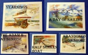 Image of Boat Watercolor Print Notecards