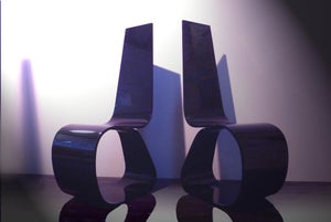 Image of Evolution Chair in black Acrylic UK