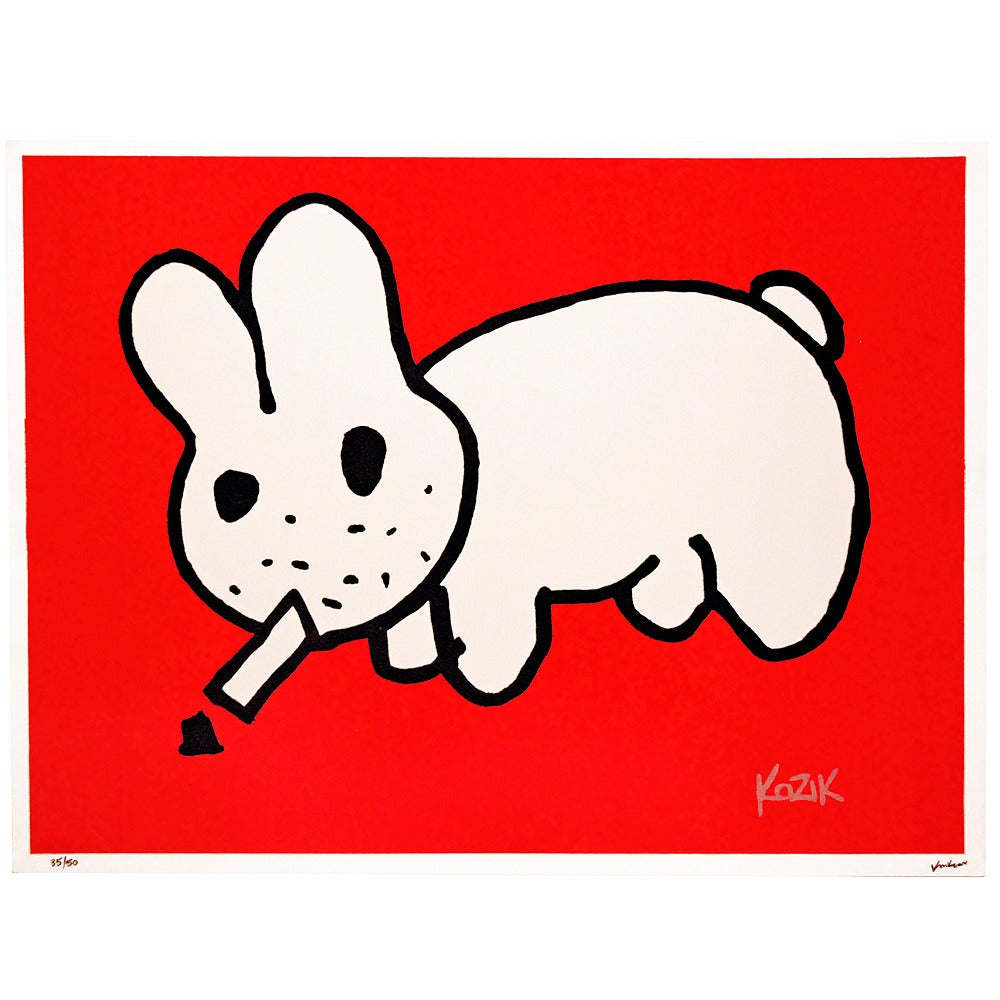 Image of Frank Kozik Smorkin Labbit Ltd edition - Red