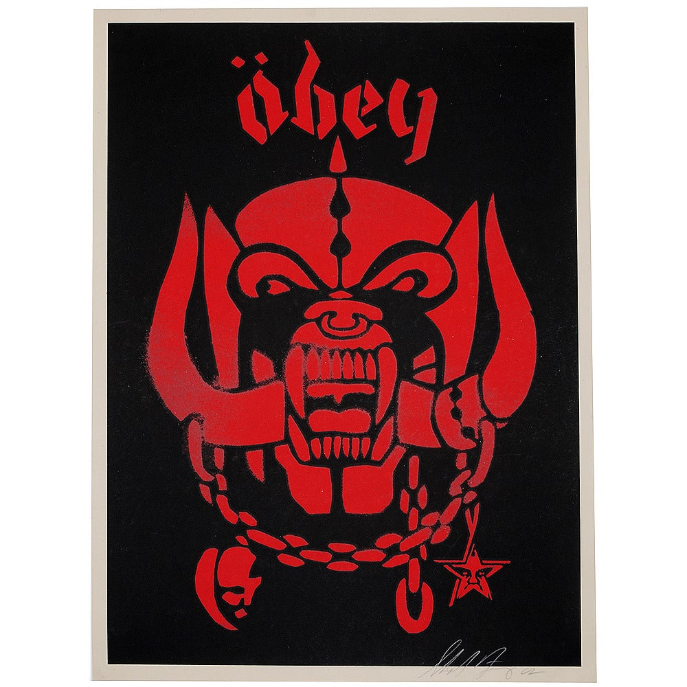 Image of Shepard Fairey - Obey Giant - Motorhead - Limited edition-Red