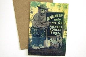 Image of Smokey Bear Postcard w/Envelope - Humboldt-Toiyabe National Forest
