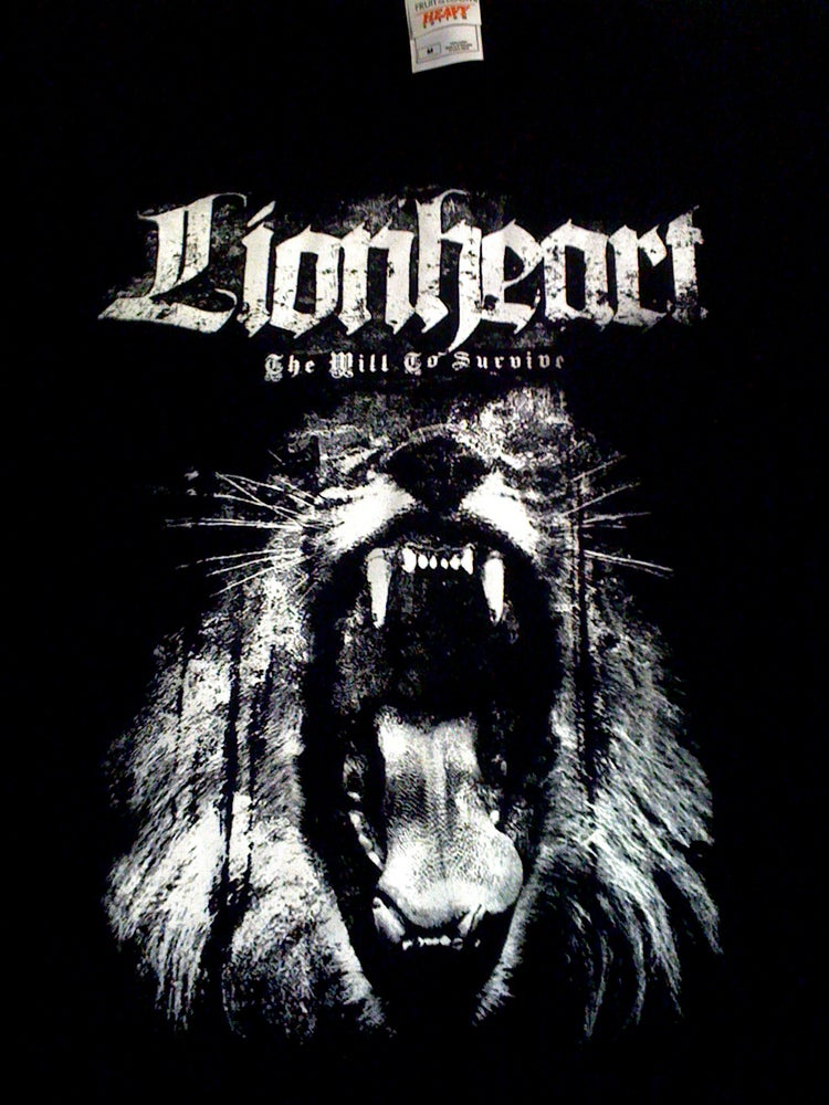 """Image of Lionheart """"The Will To Survive"""" Black Tee"""