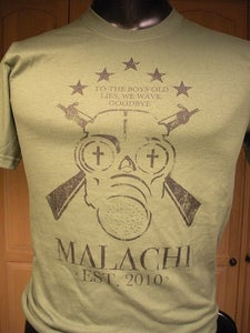 Image of Army Green Gas Mask Shirt
