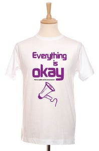 Image of Everythings OK Mens Tee (White)