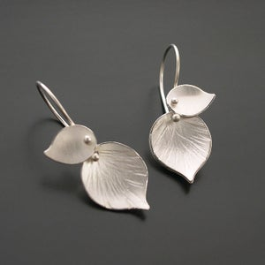 Image of Double Leaf Earrings