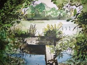 "Image of ""Bramble Island"" Redmire Pool"