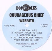 "Image of COURAGEOUS CHIEF ""WARPATH"" EP *****SOLD OUT*****"