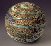 Image of Wheel-Thrown Stoneware Textured Sphere/Planet