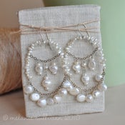 Image of Large Pearl Chandelier Earrings