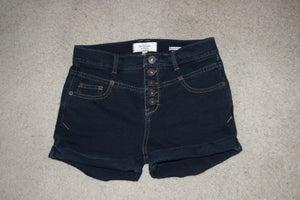 Image of Indigo High-Waisted Shorts