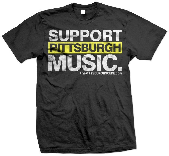 The pittsburgh scene support pittsburgh music t shirt Music shirt design ideas