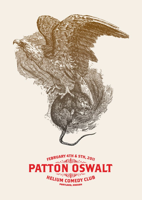 Image of Patton Oswalt - Portland Feb 4 & 5th - Letterpress