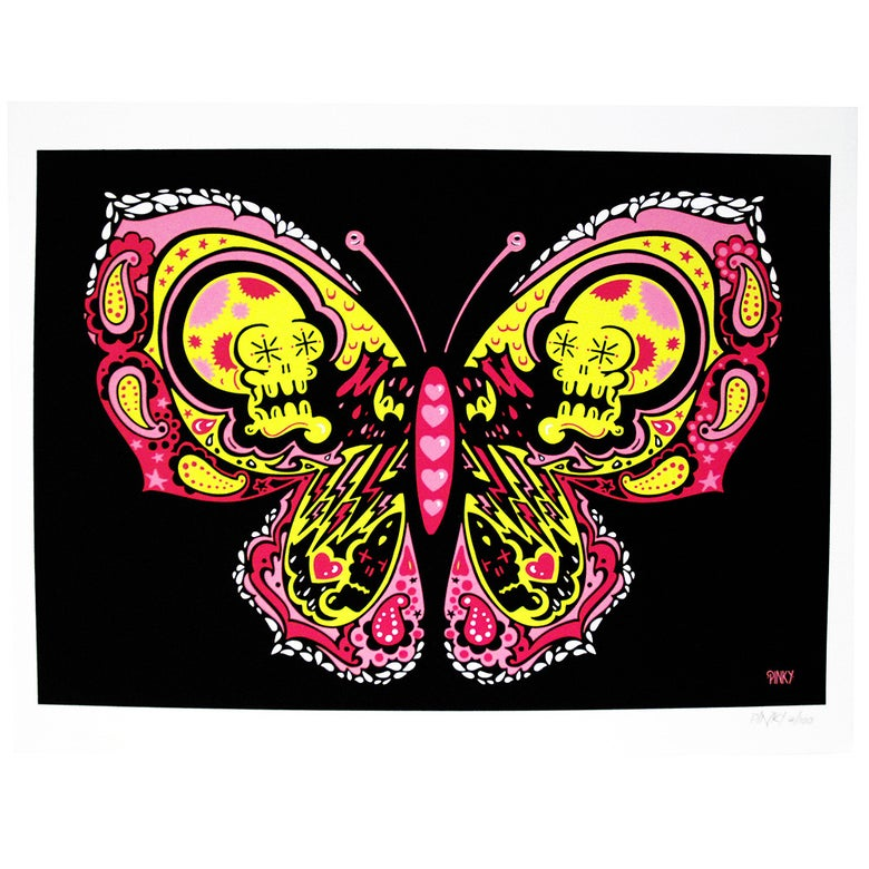 Image of Pinky - Butterfly limited edition Screen Print