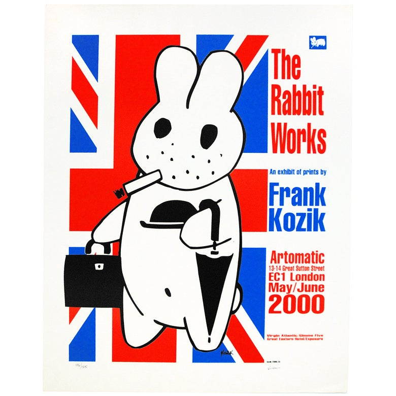 Image of Frank Kozik  ltd edition Smorkin Labbit - English Gent