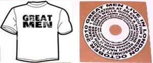 Image of Great Men - T-Shirt & CD combo ONLY £10