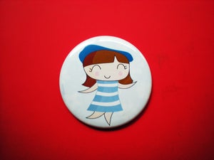 """Image of Pocket Mirror """"French Lady"""""""