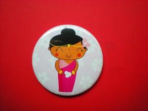 """Image of Pocket Mirror """"Hindi lady"""""""