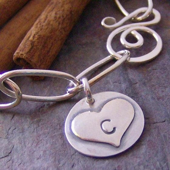 Image of sweet initial charm bracelet