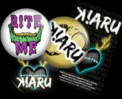 Image of K!ARU Buttons & Poster w/ Free Stickers
