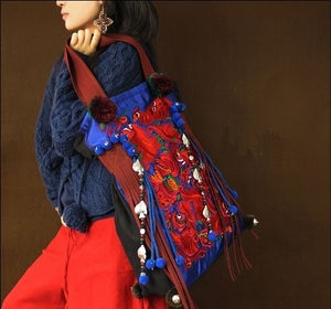 Image of Spring festival-Embroidery handbag,women's bag