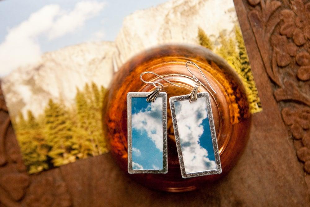 Image of clouds - original photo earrings