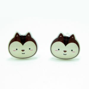 Image of Chipmunk Earrings - Sterling Silver Posts