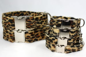 Image of Leopard print Dog Collar - dark in the category  on Uncommon Paws.