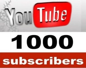 Image of 1000 YouTube Subscribers