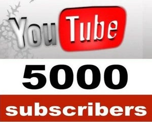 Image of 5000 YouTube Subscribers