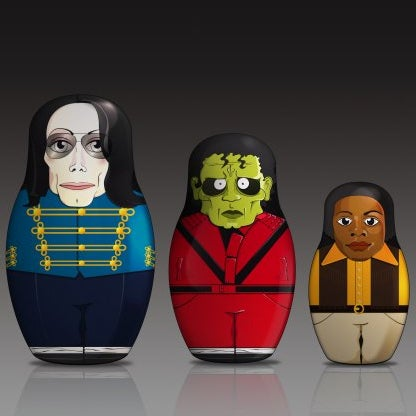 Image of King of pop matryoshka