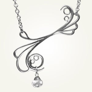 Image of Mayan Reef Necklace with White Topaz, Sterling Silver